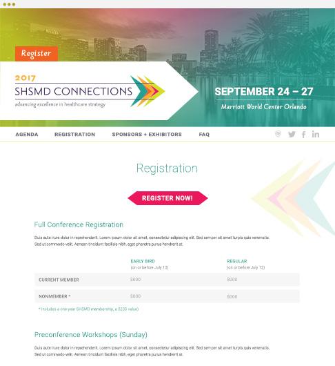 responsive SHSMD 2017 annual conference website registration