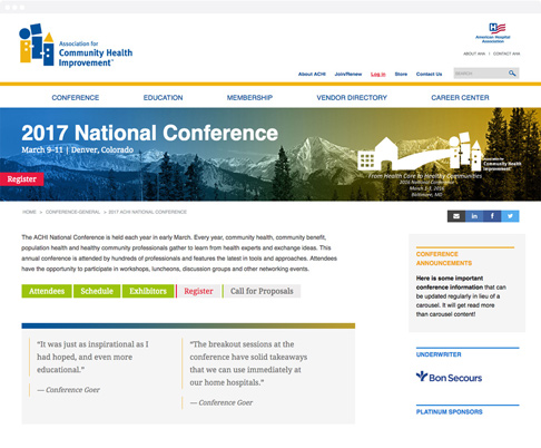 annual conference responsive website