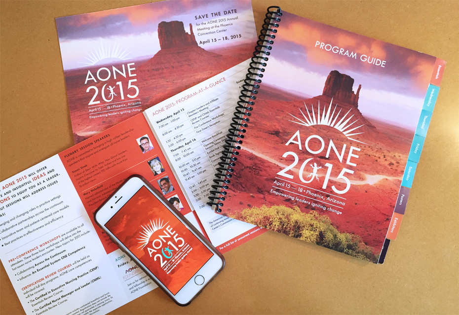 AONE 2015 conference branding and identity