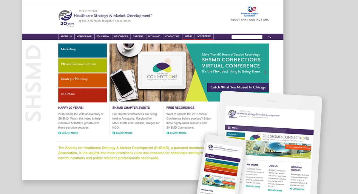 shsmd website design