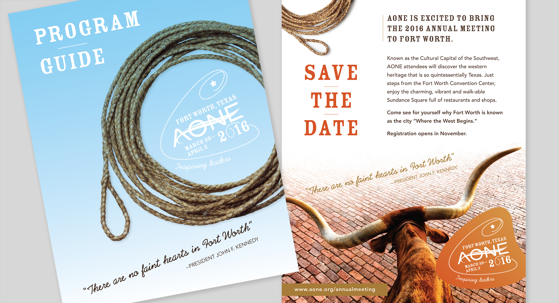 AONE 2016 Annual Conference Branding design by Hughes design|communications