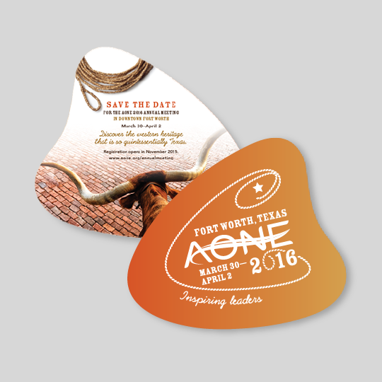 AONE annual conference save the date design