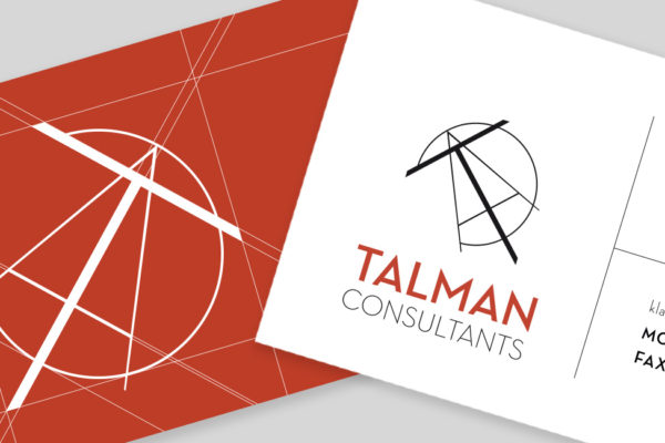 talman brand identity logo and business cards
