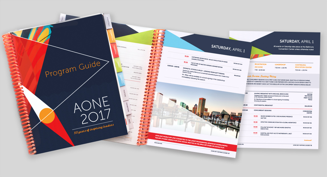 AONE 2017 Annual Conference Program Guide Design