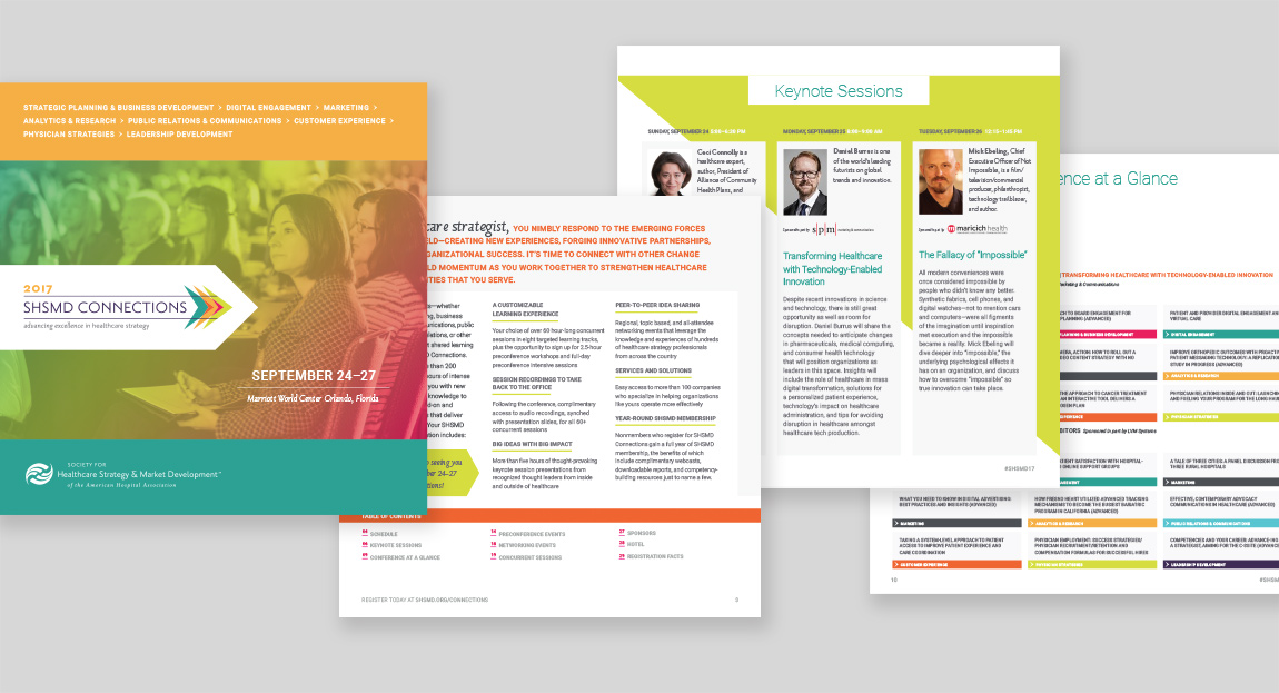 SHSMD Connections 2017 Program Brochure Design
