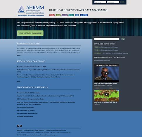 AHRMM standards responsive microsite