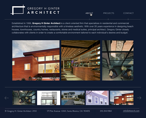 Ginter Architecture Website Design