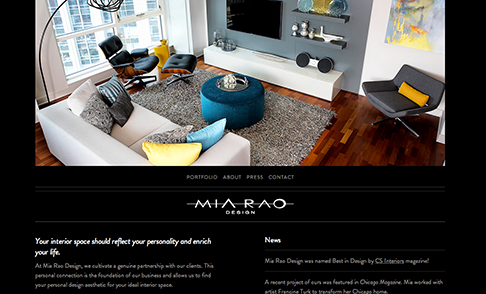 Mia Rao Design Website