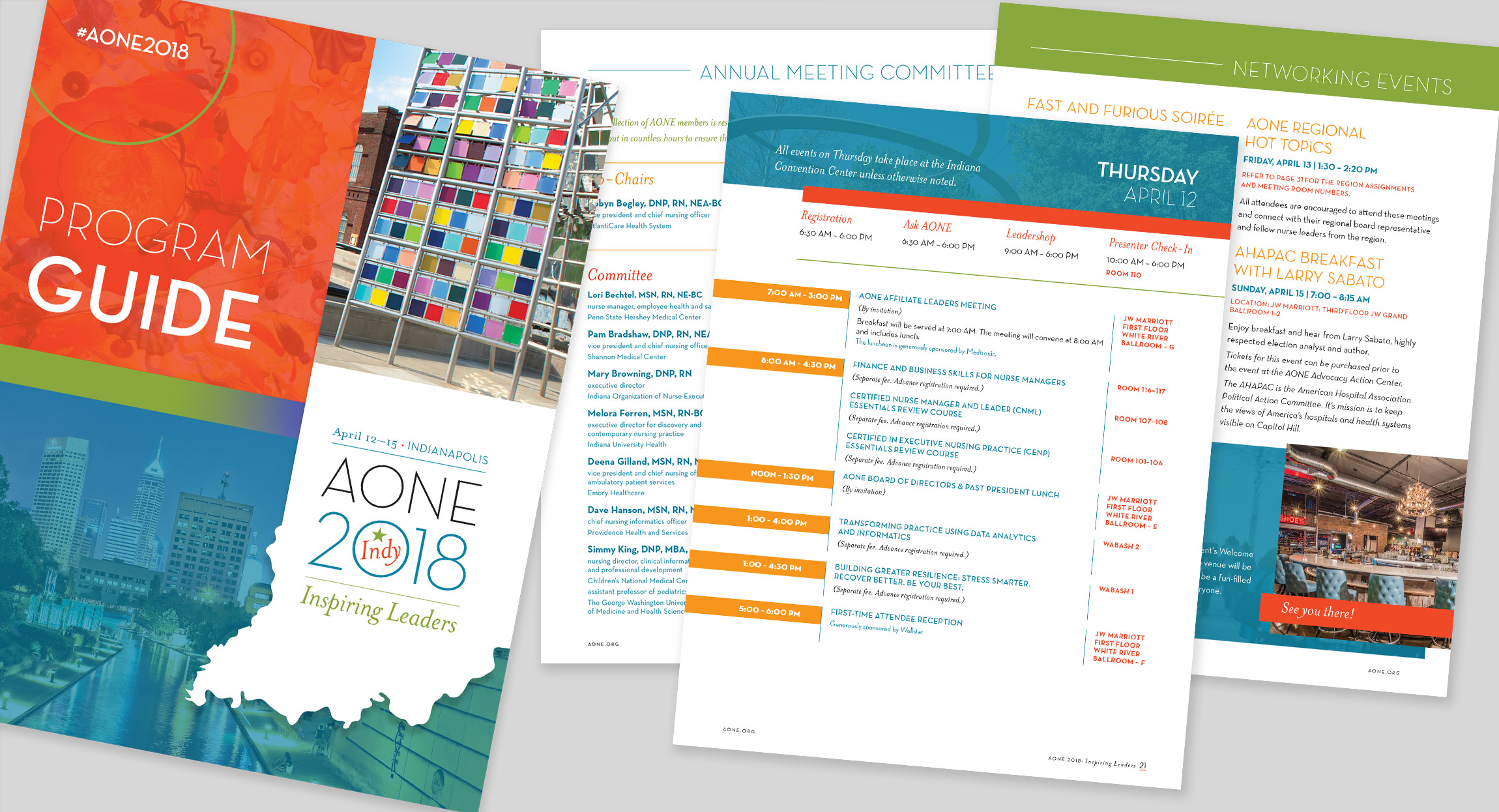 AONE 2018 Annual Meeting Program Book Designed by Hughes Design