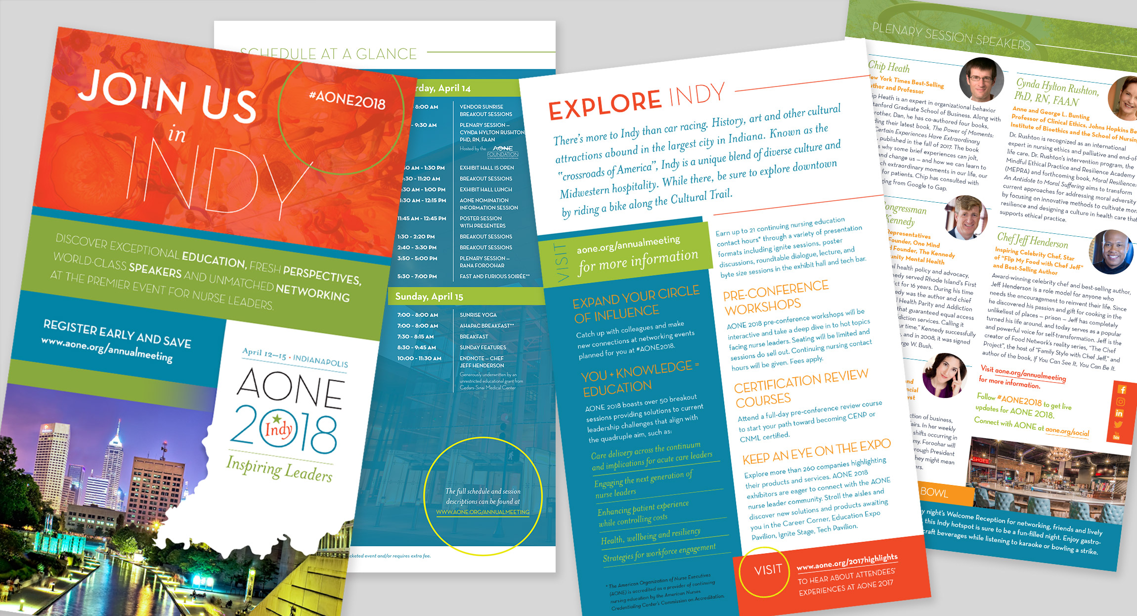 AONE 2018 Registration Brochure Design by Hughes Design