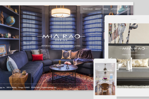Mia Rao Design Website by Hughes Design