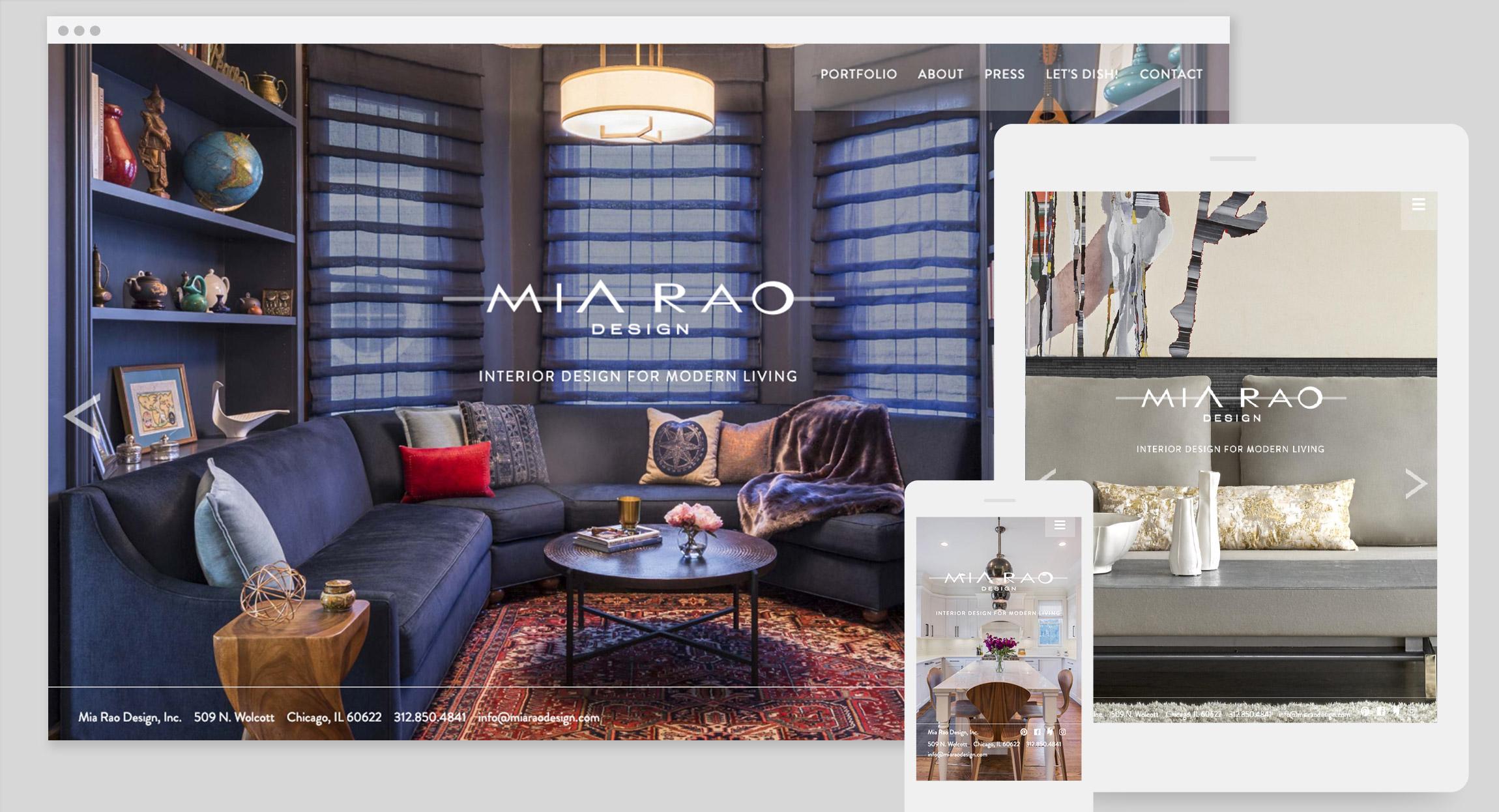Mia Rao Design Website by Hughes Design