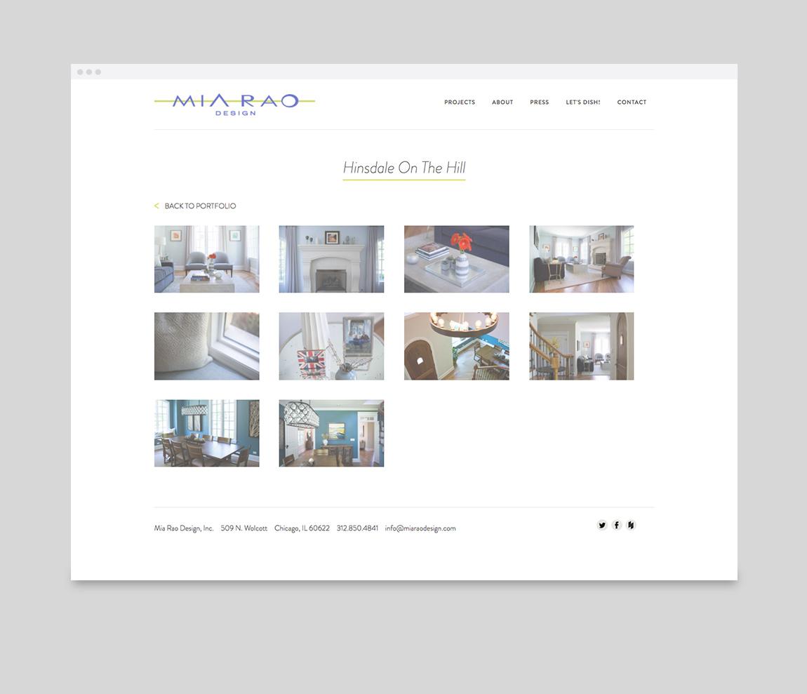 Mia Rao Design Website Single Project