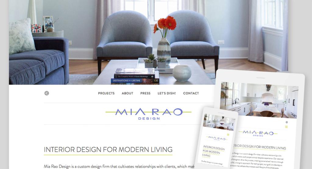 Mia Rao Design Responsive Website