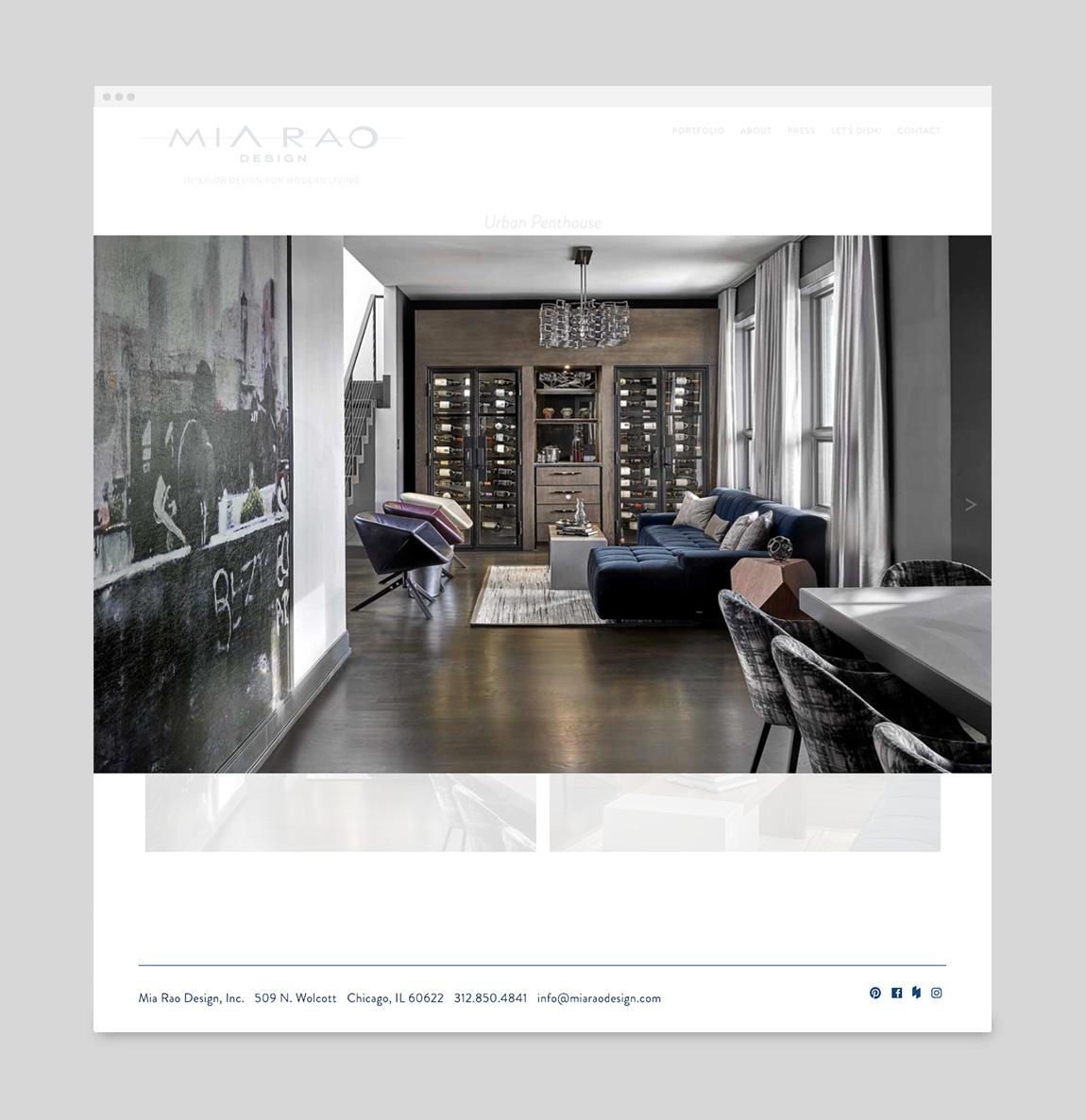 Mia Rao Design Website Single Project Page by Hughes Design