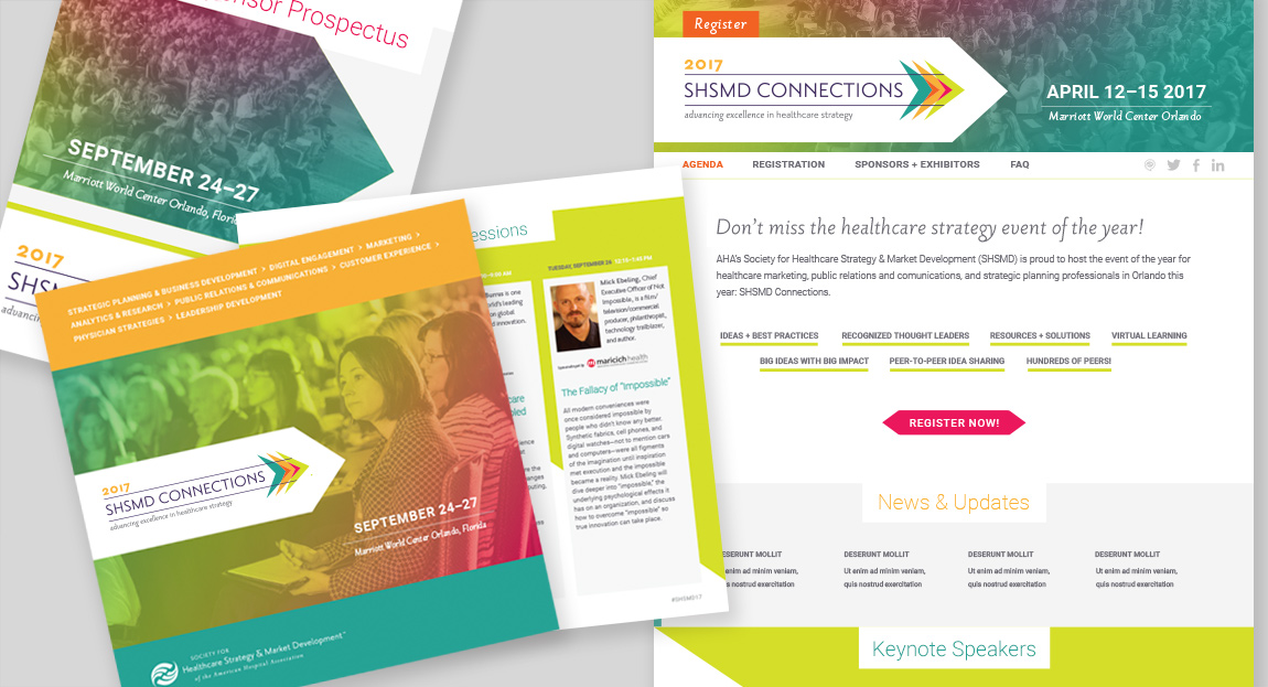 SHSMD Connections 2017 Annual Conference Branding Design