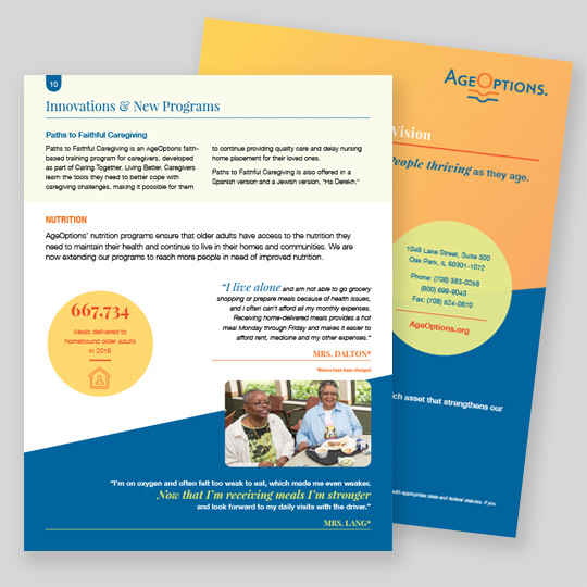 AgeOptions Annual Report Design