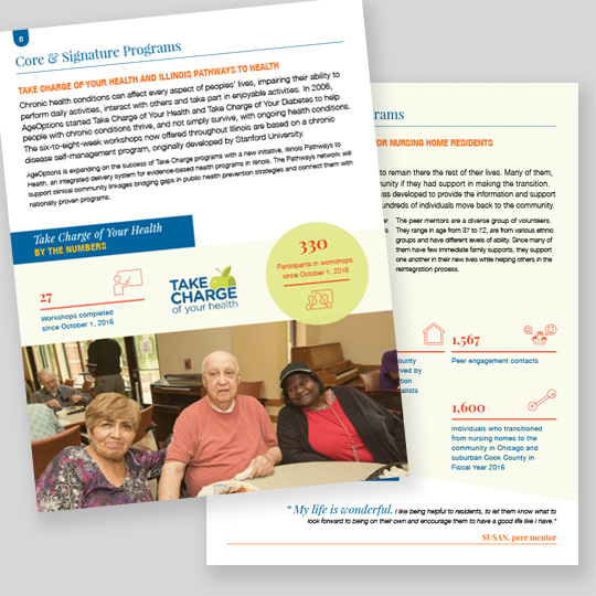 AgeOptions 2017 Annual Report Design Pages