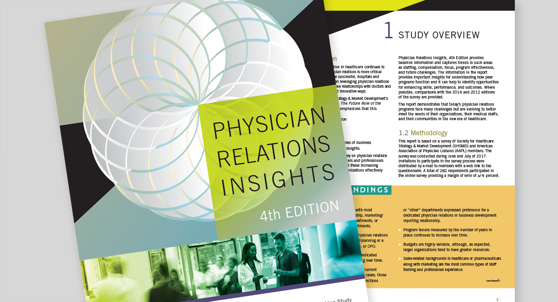 SHSMD Physician Relations Report Design
