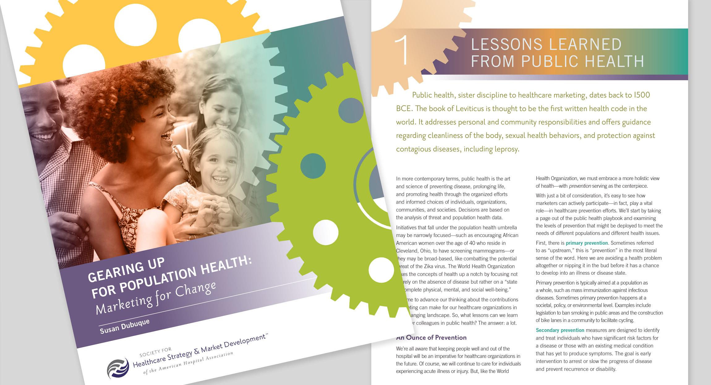 SHSMD population health report design by hughes design