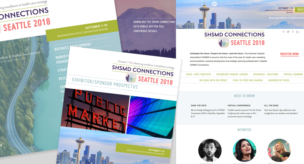 SHSMD Connections 2018 Annual Conference Materials Design by Hughes Design