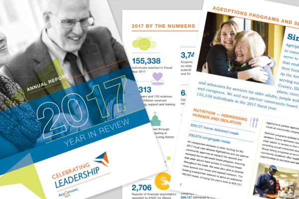 AgeOptions 2018 Annual Report Graphic Design