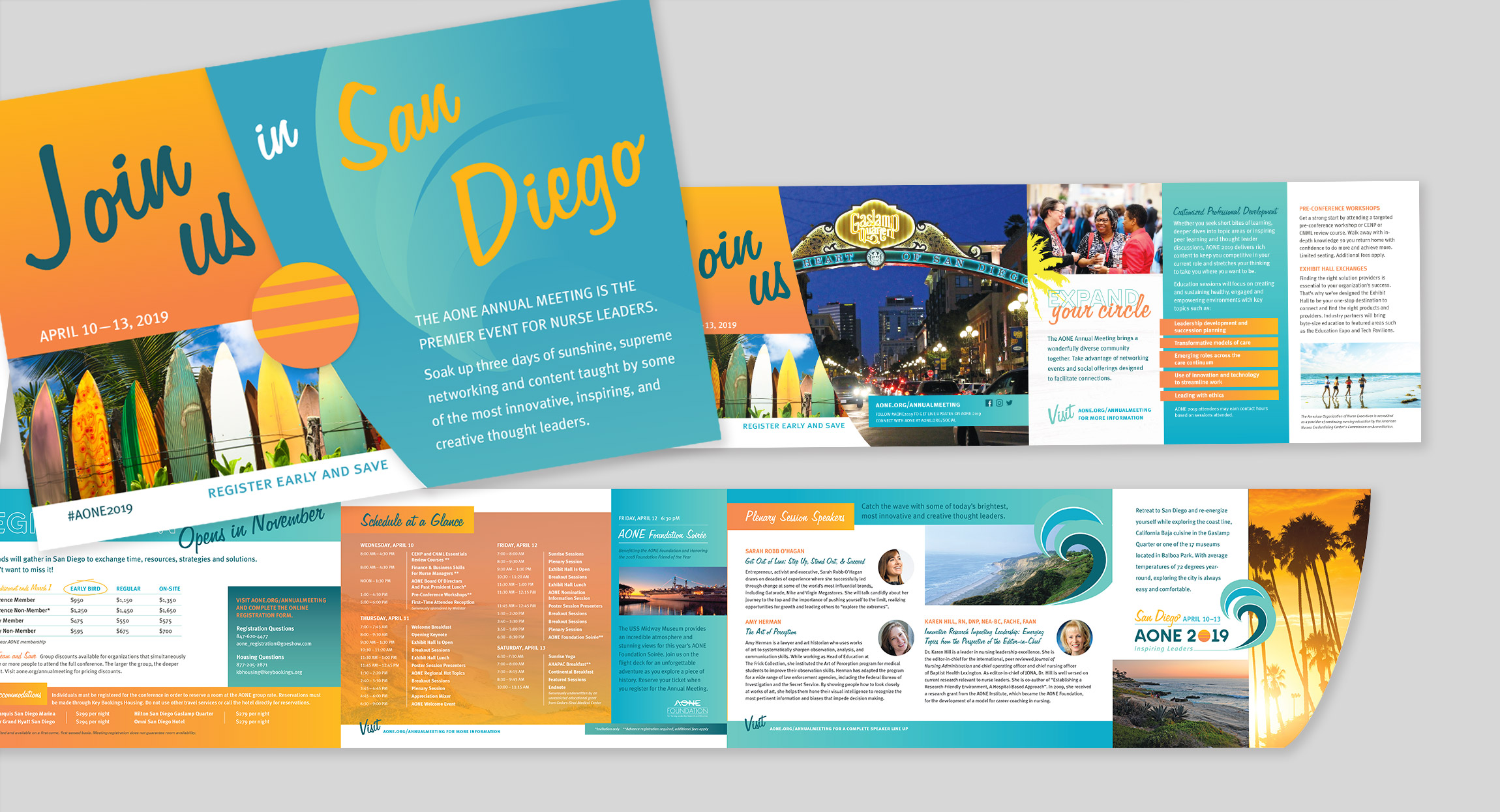 AONE 2019 Annual Meeting Registration Brochure by Hughes Design