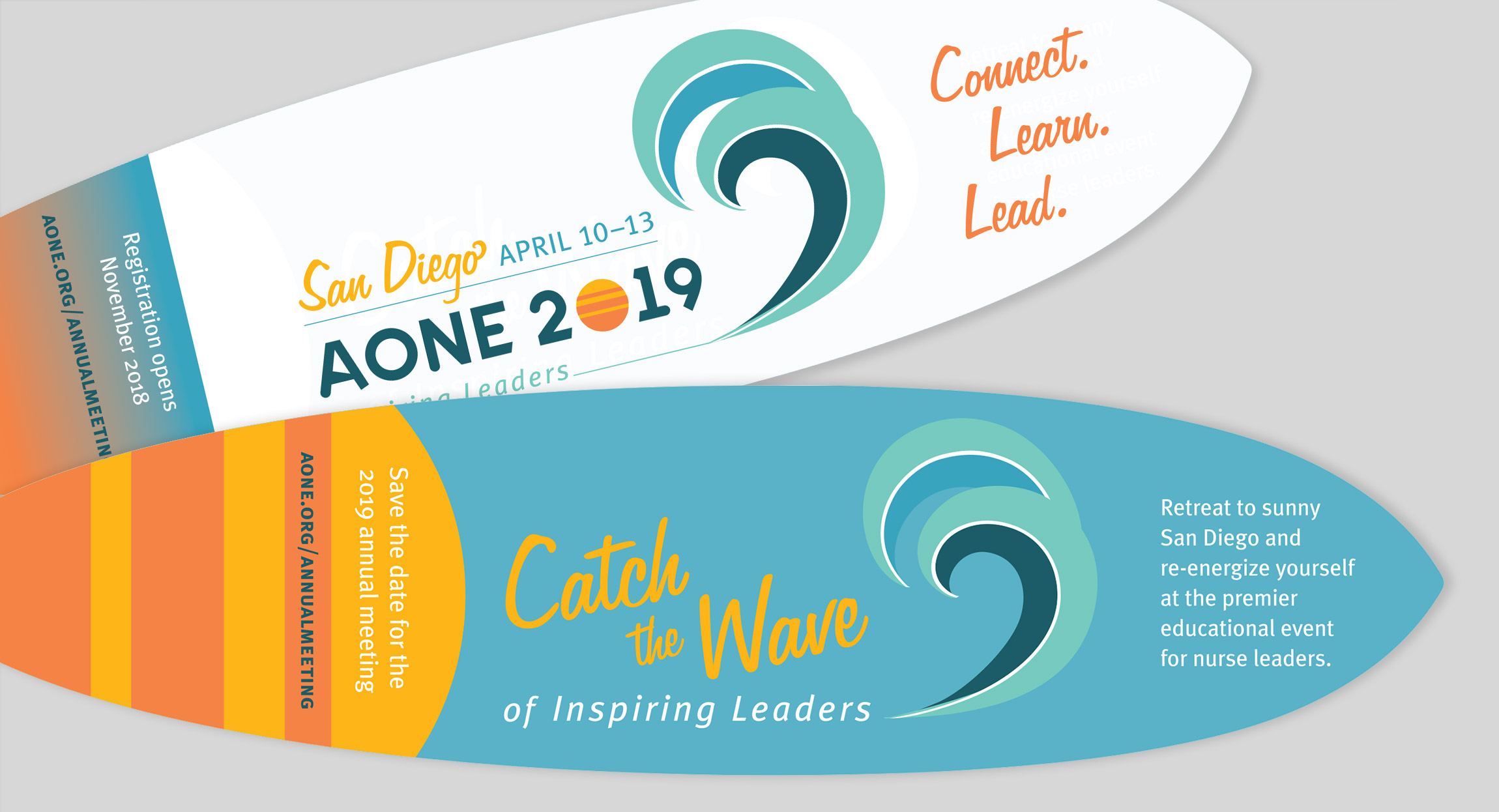 AONE 2019 Annual Meeting Save the Date Promotional Mailing by Hughes Design