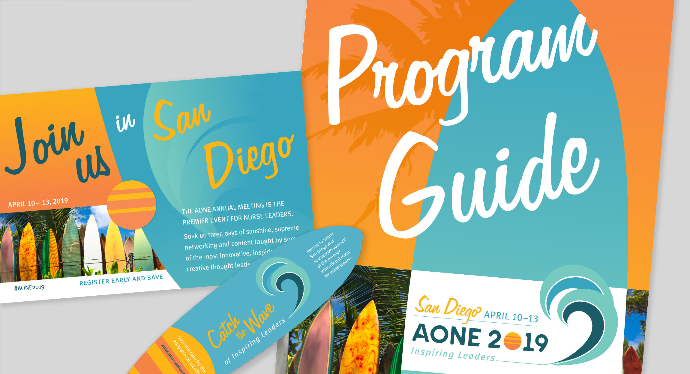 AONE 2019 Annual Conference Branding by Hughes Design