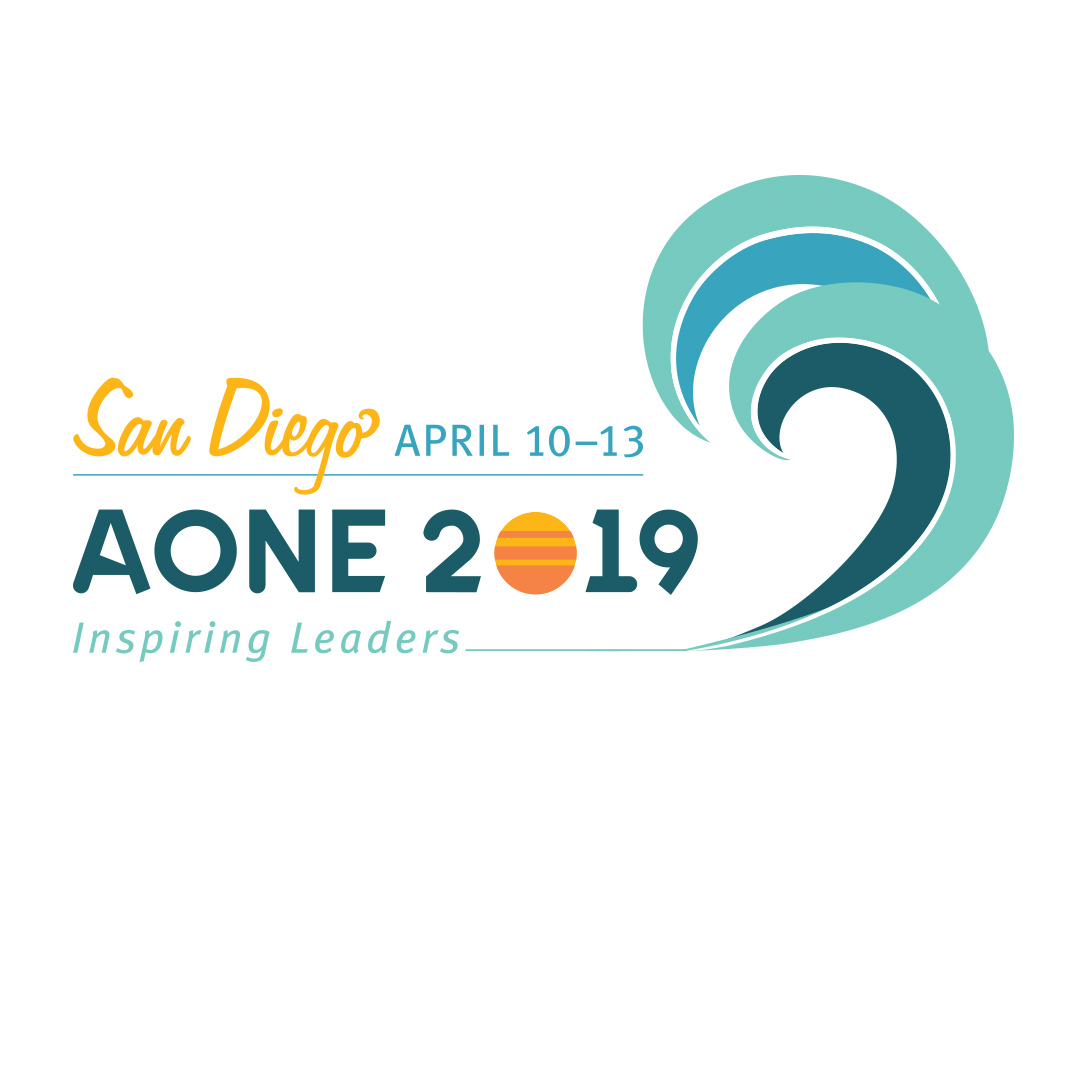 AONE 2019 San Diego Logo by Hughes Design | Communications