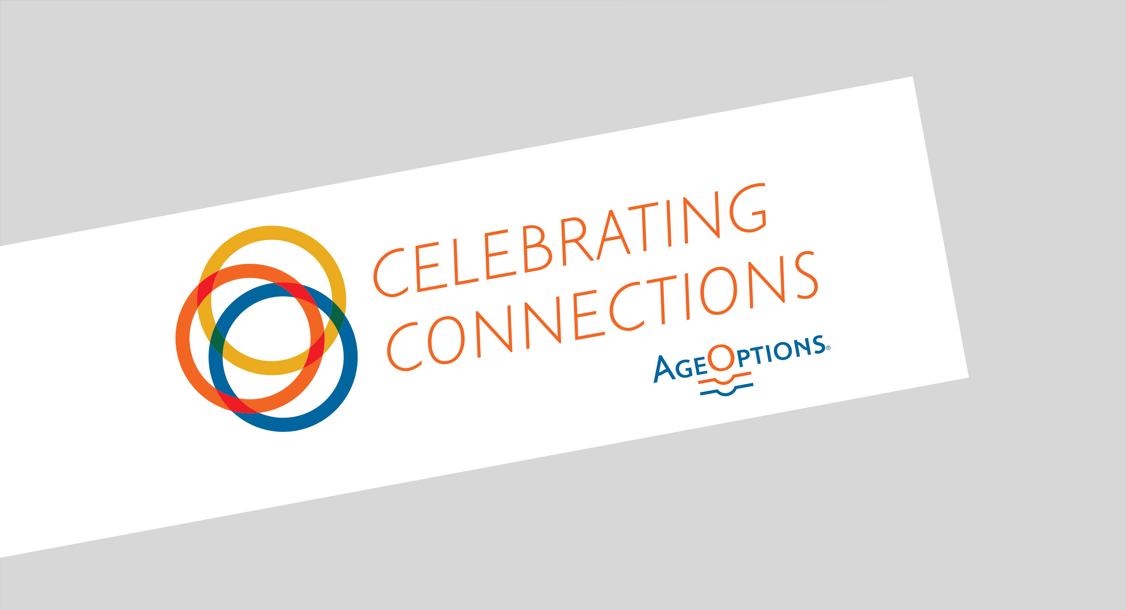 AgeOptions Celebrating Connections Logo Design by Hughes Design|Communications