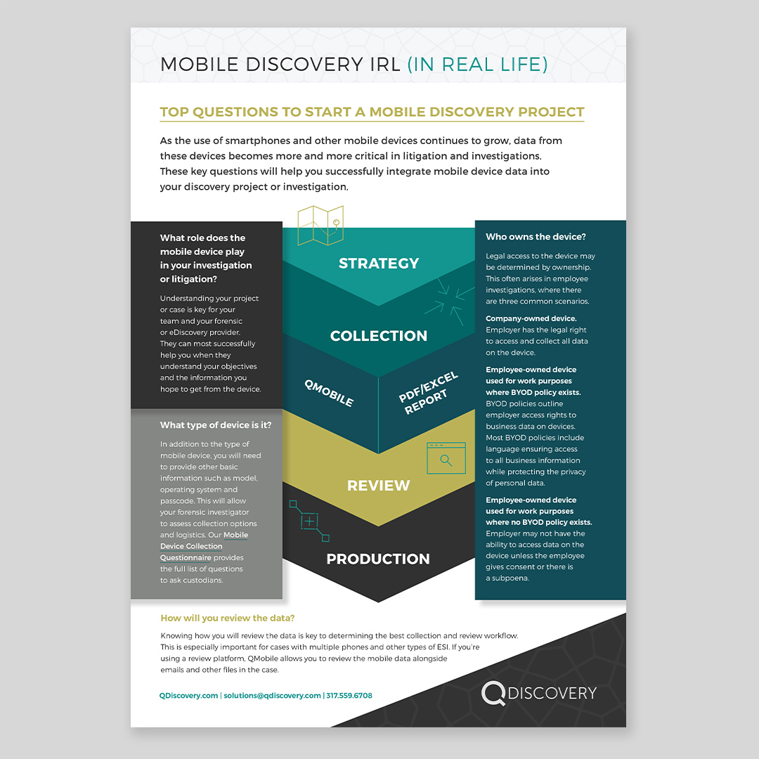 QDiscovery Information Sheet Design by Hughes Design