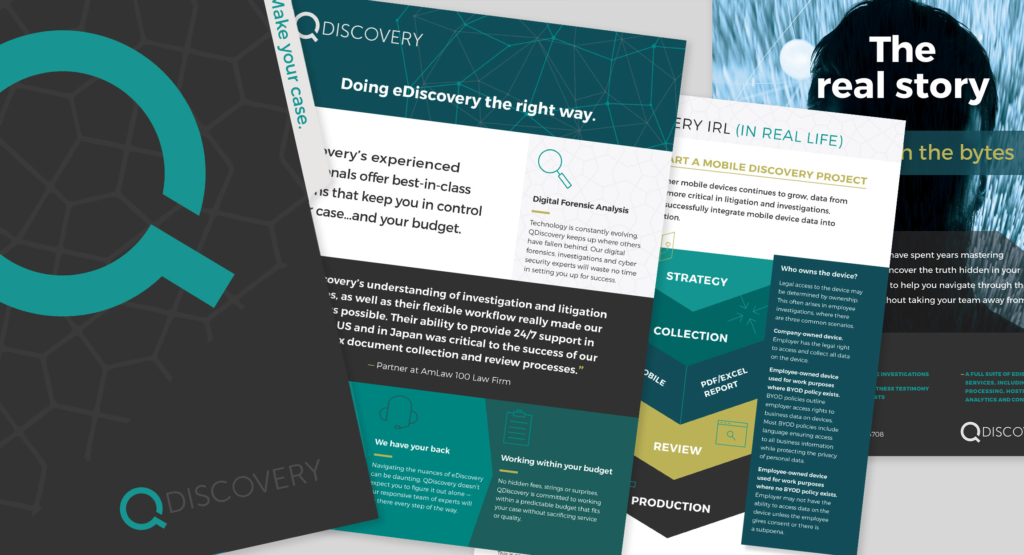 QDiscovery Marketing Materials Design by Hughes Design