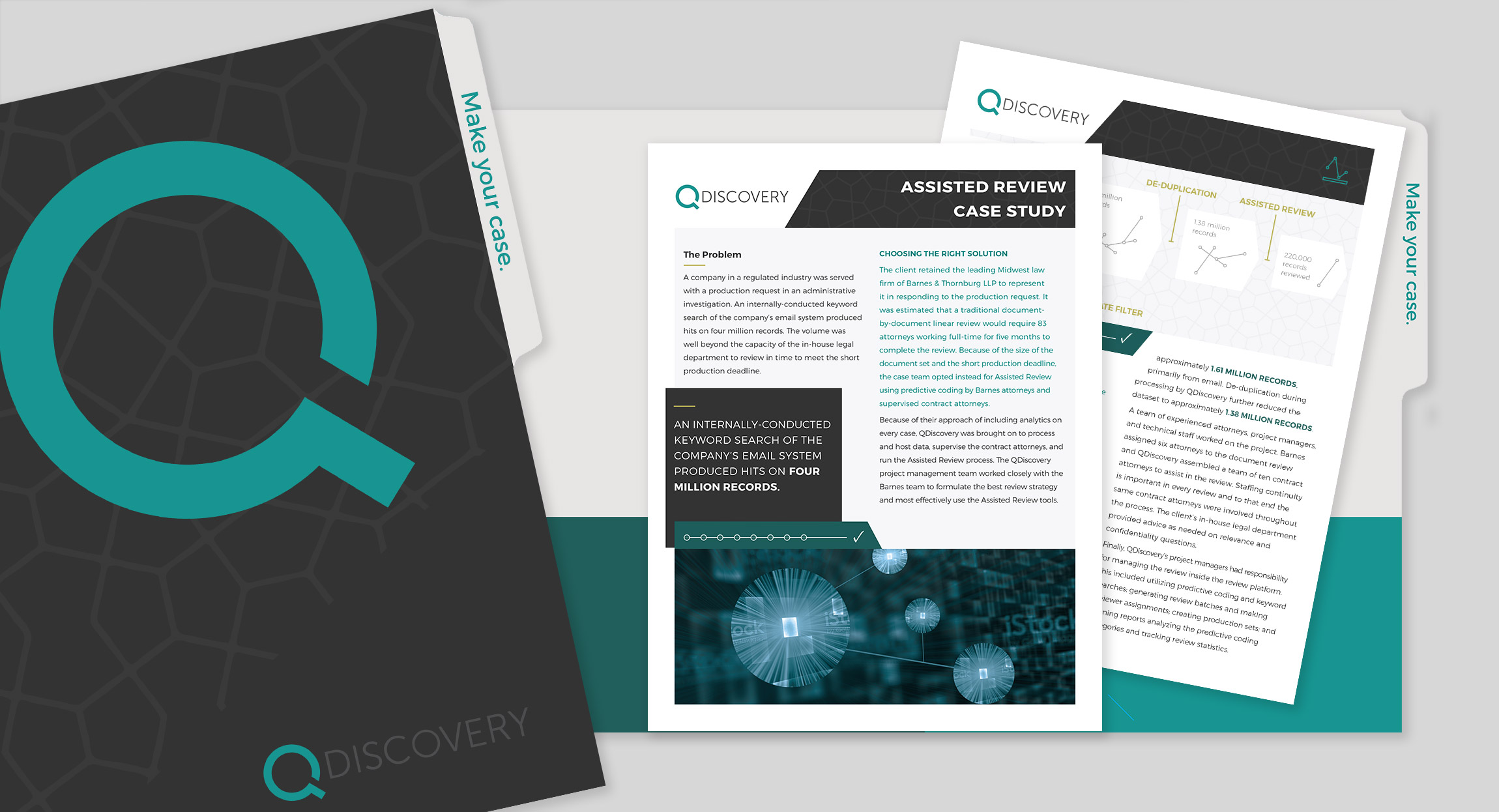 QDiscovery Case Study Folder and Insert Design by Hughes Design