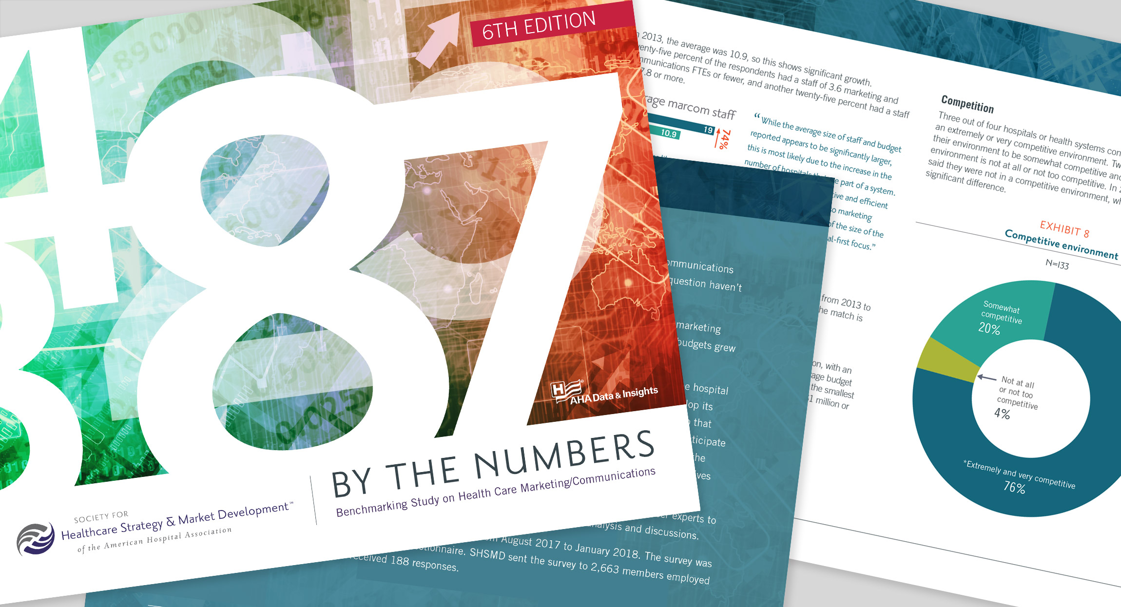 SHSMD By The Numbers annual report design by Hughes Design
