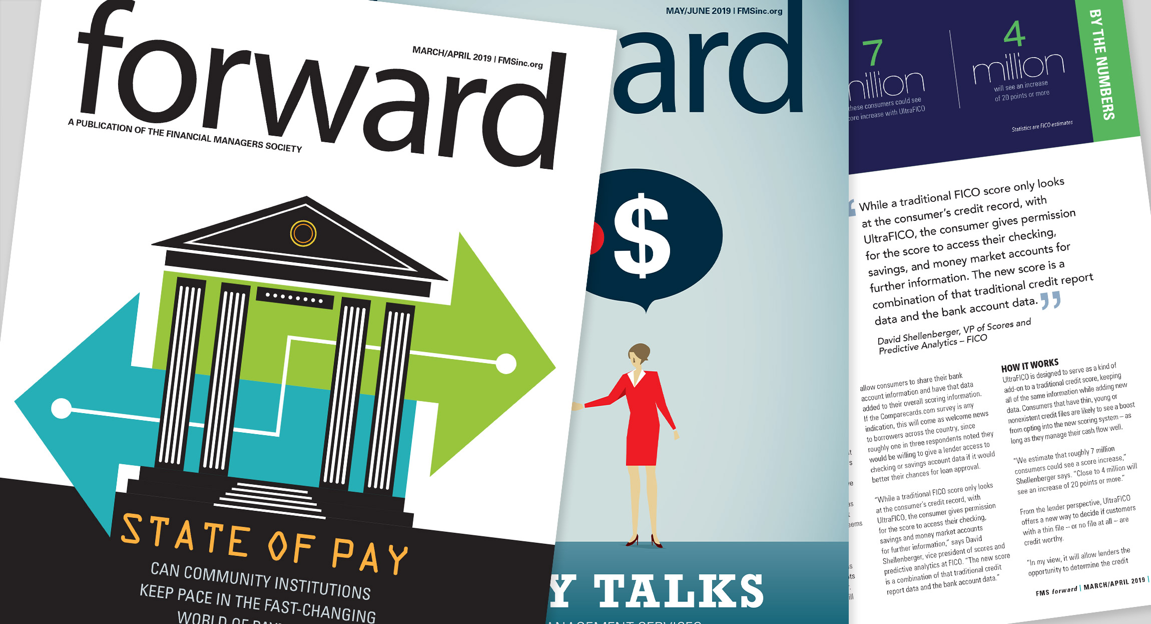 FMS Forward Magazine Layout Redesign by Hughes Design Communications
