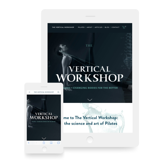 The Vertical Workshop Website Design Tablet and Phone Devices
