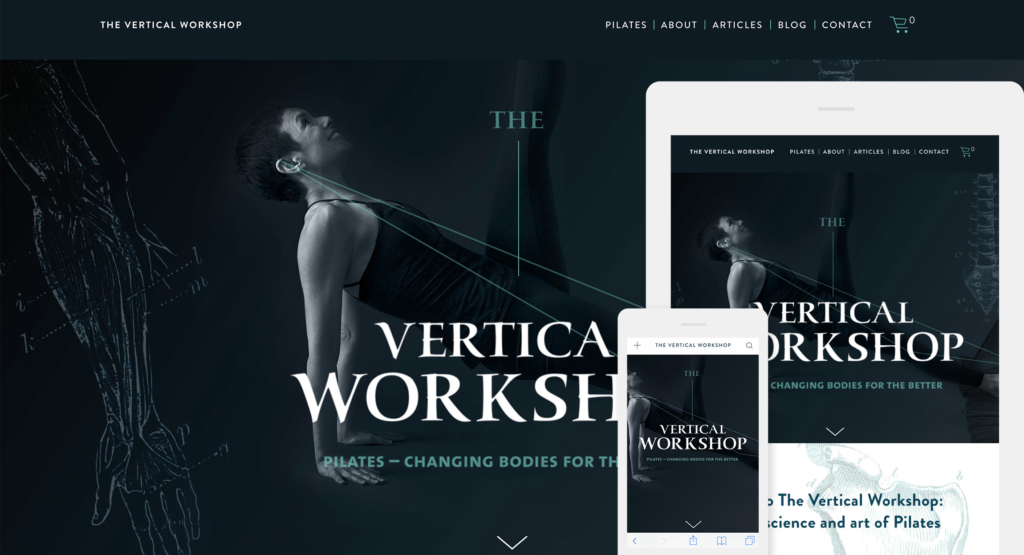 The Vertical Workshop Pilates Website Design by Hughes Design