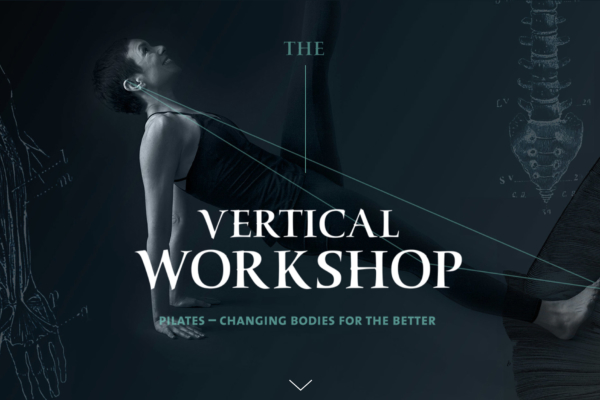 The Vertical Workshop Pilates site design by Hughes Design