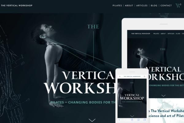 The Vertical Workshop Pilates Website Design by Hughes Design