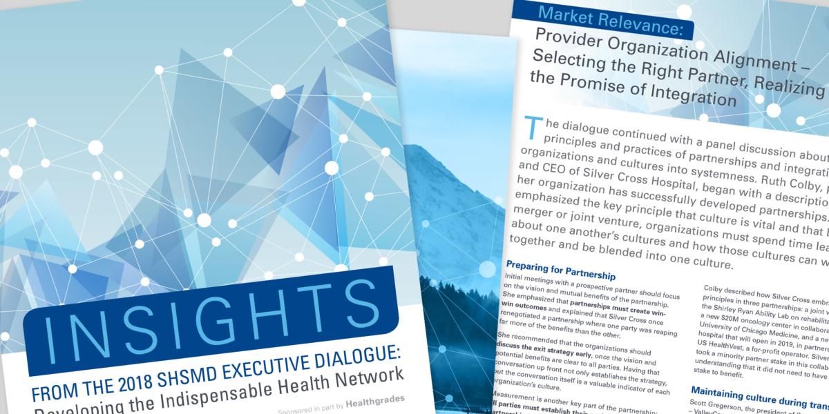 SHSMD 2018 Executive Dialog Brochure Design by Hughes Design