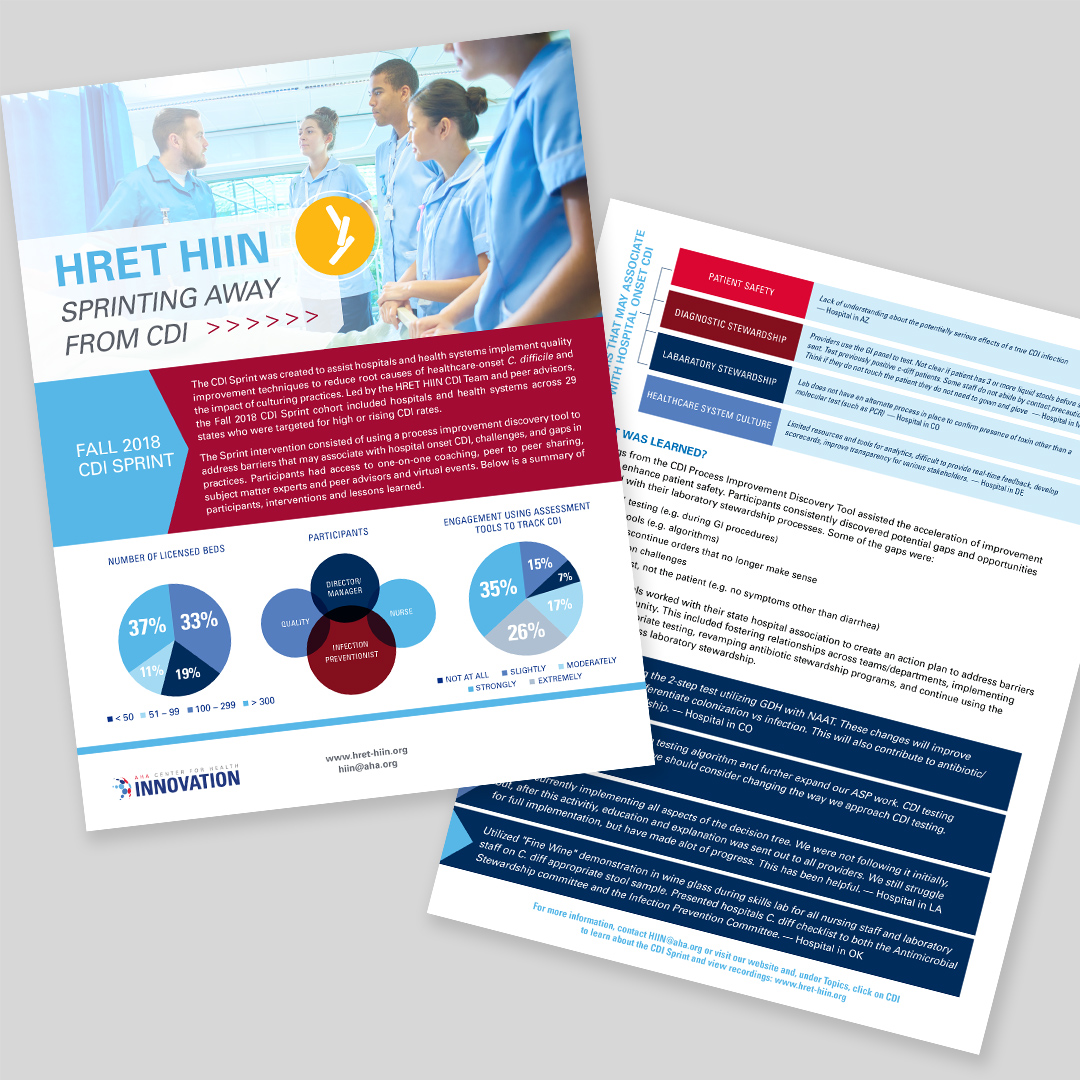 Design of Informational Flyer for HRET HIIN by Hughes Design Communications