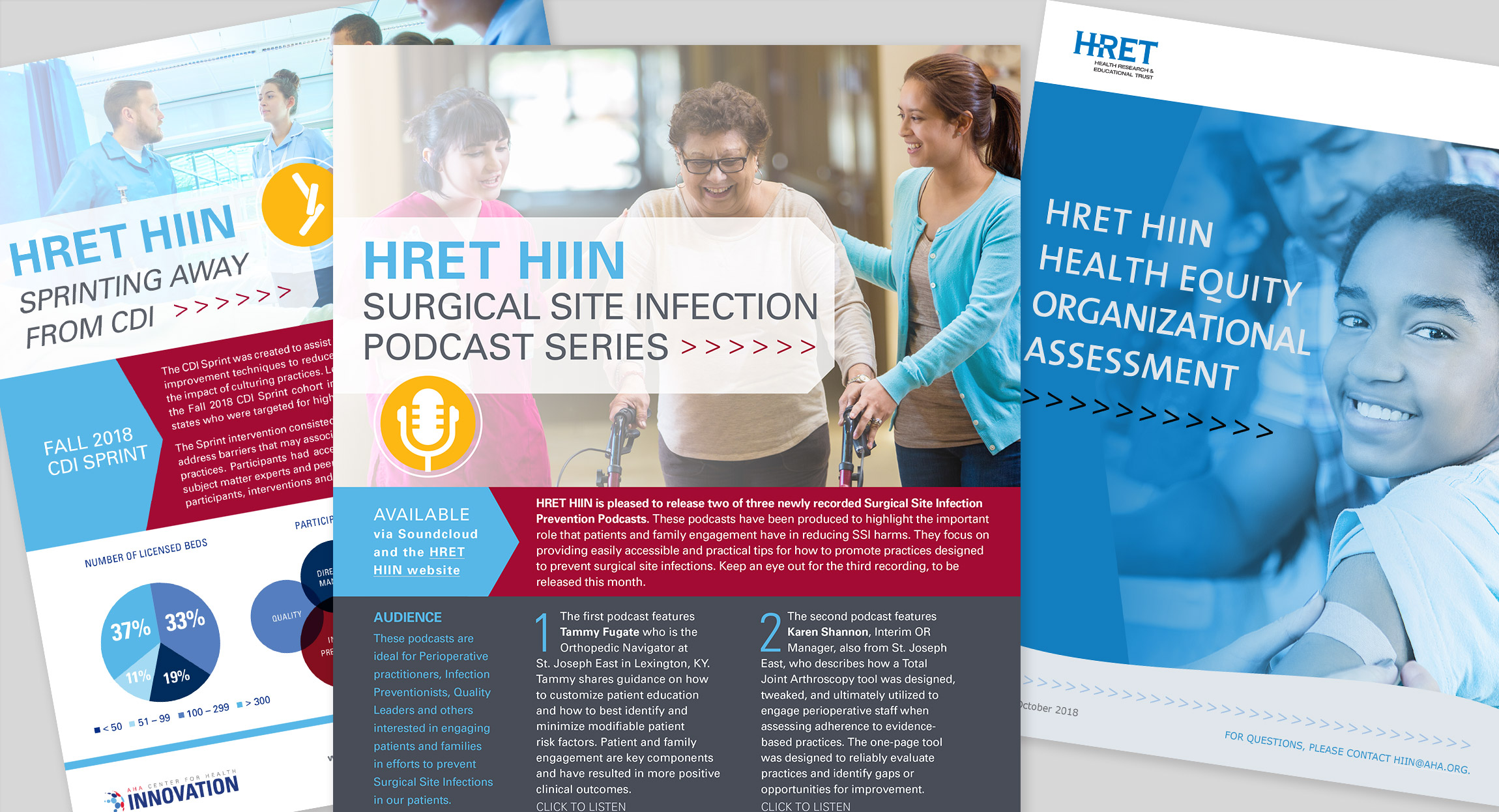 Design and Branding for HRET HIIN by Hughes Design Communications