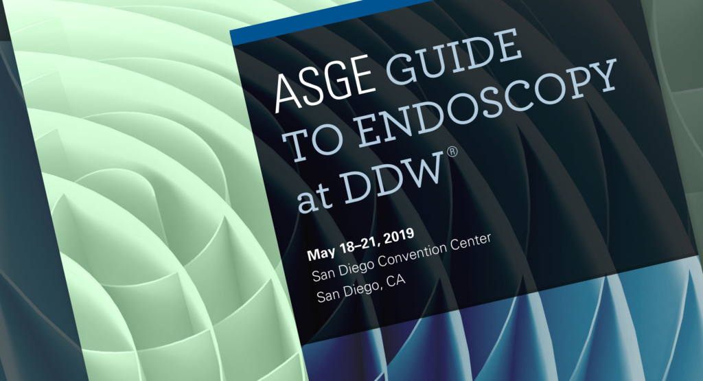 ASGE DDW 2019 Conference Guide Design by Hughes Design