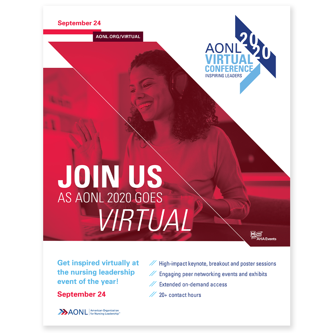 AONL2020 Virtual Conference Print Ad Design