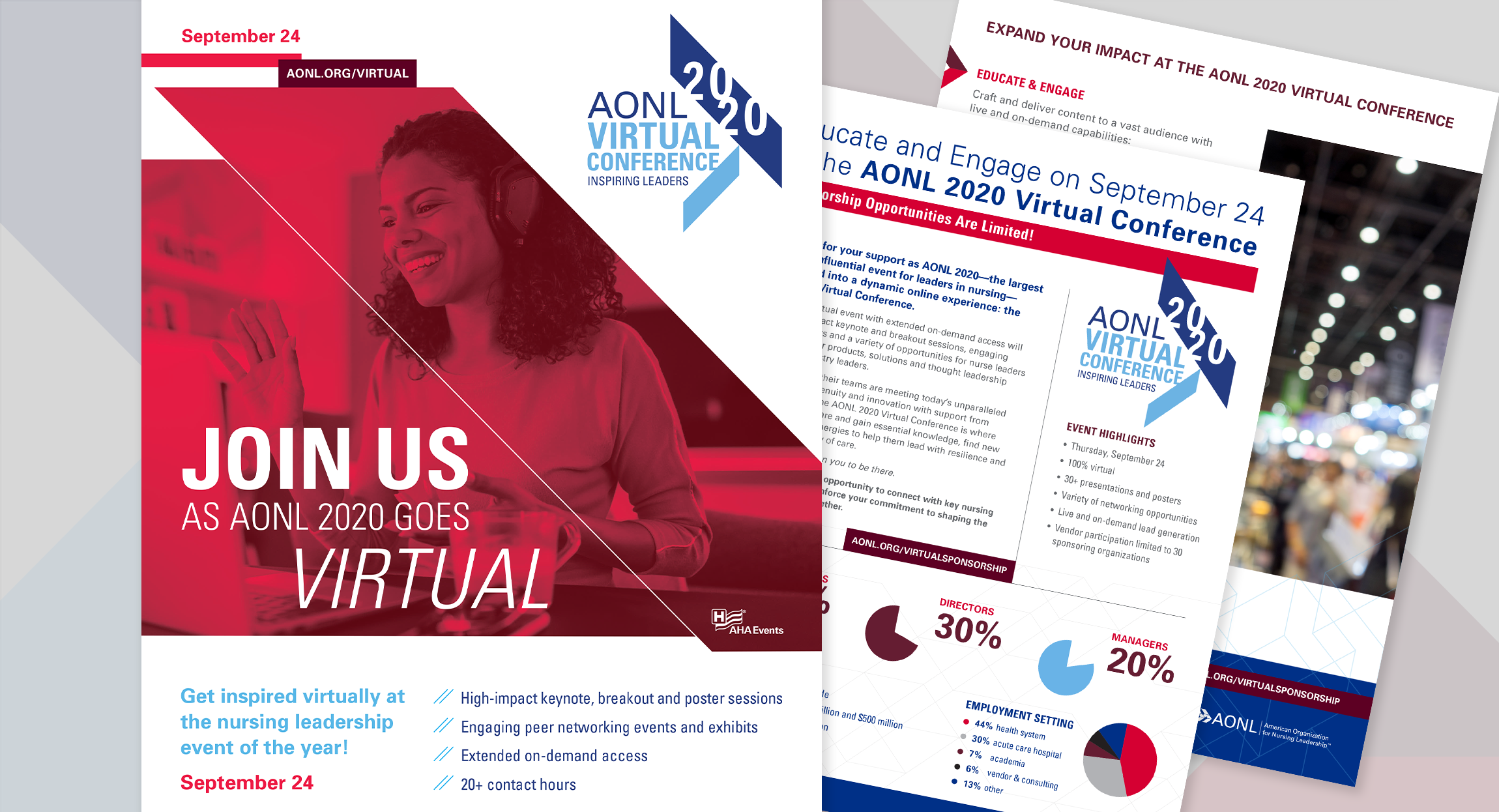 AONL2020 Virtual Online Conference Materials Design by Hughes design|communications