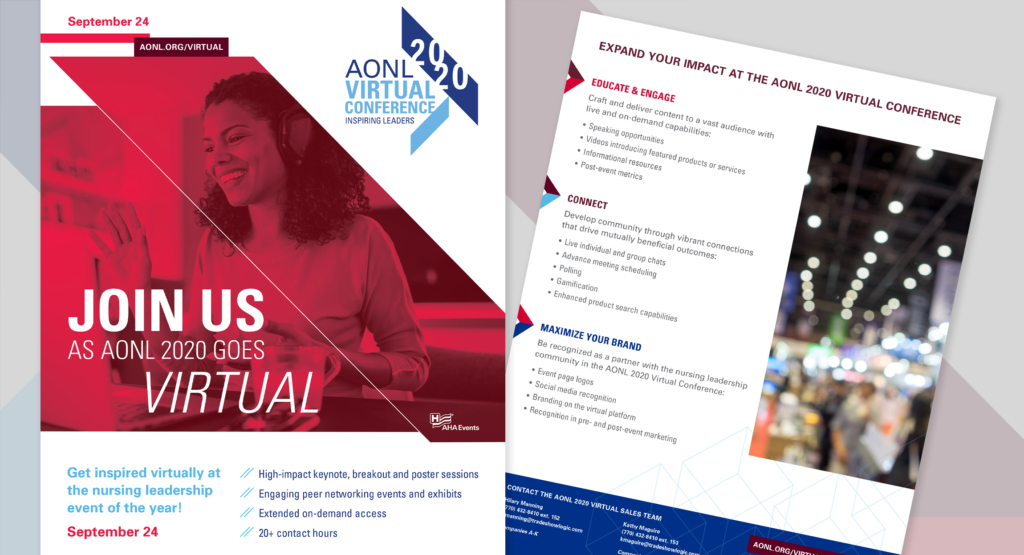 AONL2020 Virtual Conference Branding design by Hughes design|communications