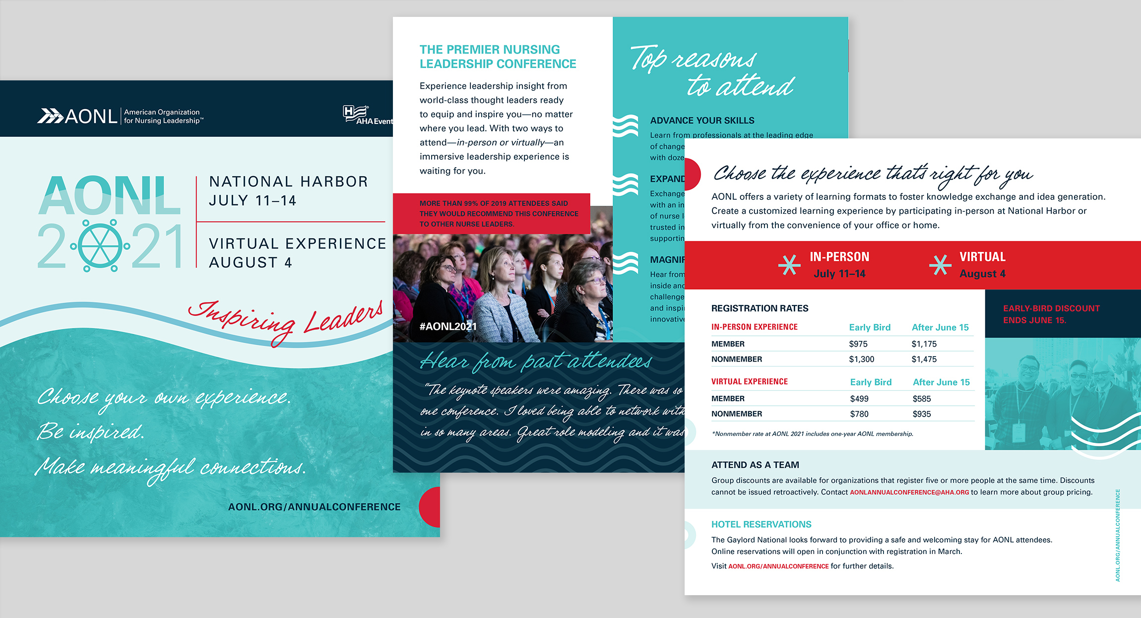 AONL 2021 Annual Conference Brochure Design by Hughes Design