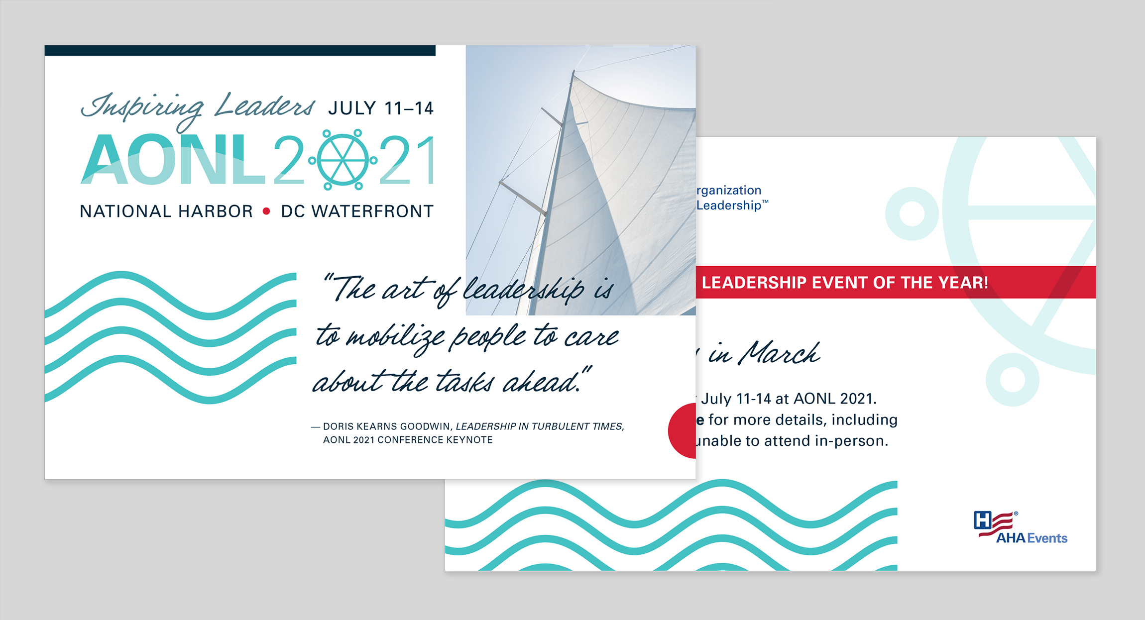AONL 2021 Annual Conference Postcard Design by Hughes Design